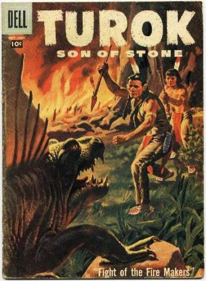Turok: Son of Stone 9 - Dell - Dell Comics - Turok - Dinosours - Fire Makers