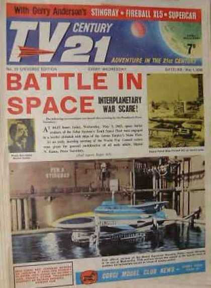 TV Century 21 15 - Gerry Anderson - Stringray - Supercar - Battle In Space - Adventure In The 21st Century