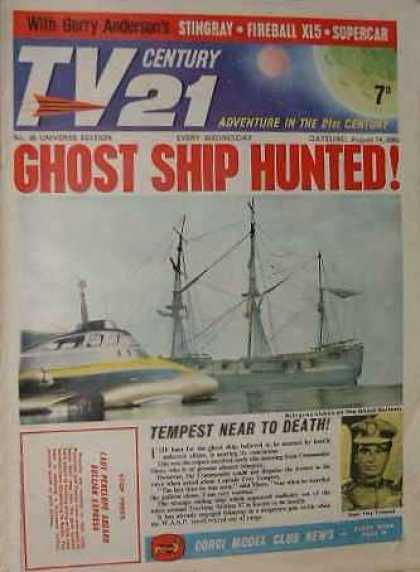 TV Century 21 30 - Ghost Ship Hunted - Tempest Near To Death - Fireball - Sky - Adventure