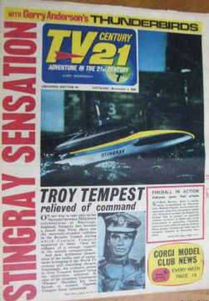 TV Century 21 94 - Thunderbirds - Troy Tempest - Speed Boat - Stingray Sensation - Corgi Model Club News