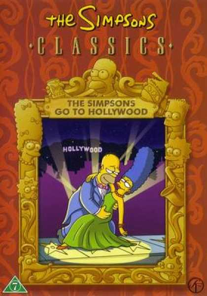 TV Series - The Simpsons Classics Go To Hollywood Danish