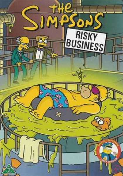 TV Series - The Simpsons Risky Business Danish