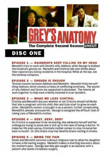 TV Series - Grey's Anatomy Episodes 1 - 10 Engli