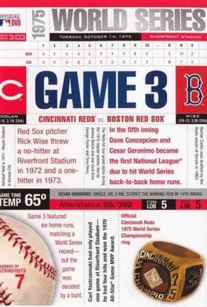 TV Series - The Cincinnati Reds: 1975 World Series Game