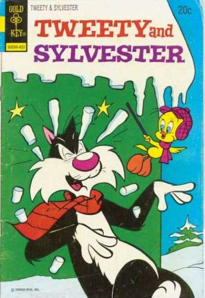 Tweety and Sylvester 36 - Gold Key - Cat - Bird - 20 Cents - Icicles