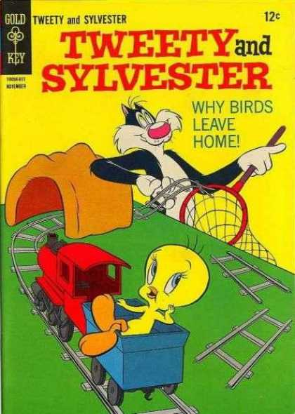 Tweety and Sylvester 4 - Tracks - Train - Net - Cat - Mouse