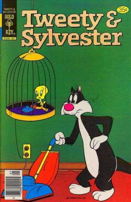 Tweety and Sylvester 89 - Bird - Cat - Birdcage - Vacuum Cleaners - Wall Socket