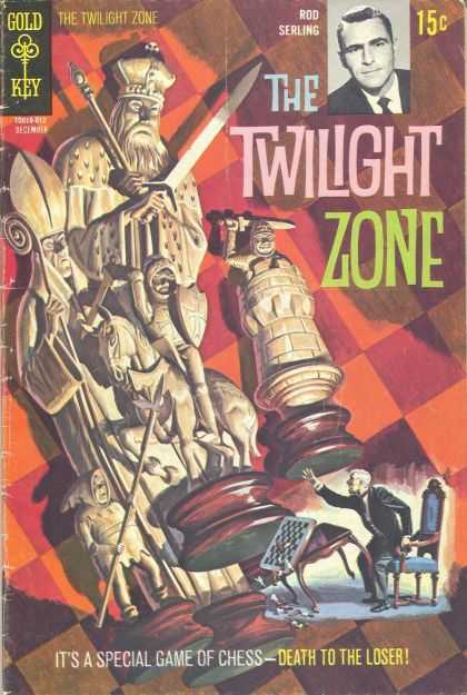 Twilight Zone 35 - The Twilight Zone - Rod Serling - Gold Key - 15 Cents - Chess