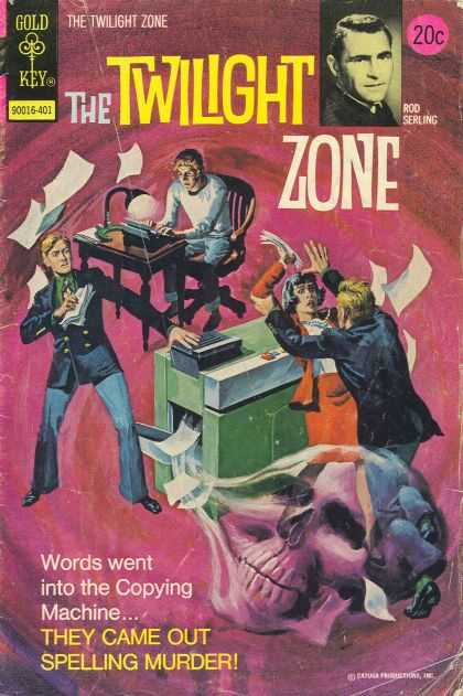 Twilight Zone 54 - Gold Key - Typing Machine - Murder - Death - Writing