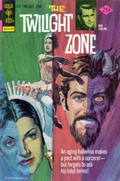 Twilight Zone 58 - Gold Key - Rod Serling - Demon - Ballerina - Sorcerer