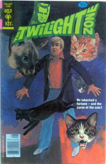 Twilight Zone 86 - Cats - Inherited - Curse - Gold Key - Red Shirt