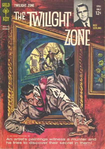 Twilight Zone 9 - Twilight Zone - Gold And Key - Rod Serling - Paintings - Murder