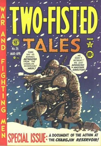 Two-Fisted Tales 26 - Soldier - Mar-apr - 10 Cents - No 26 - Blue Cover - Harvey Kurtzman