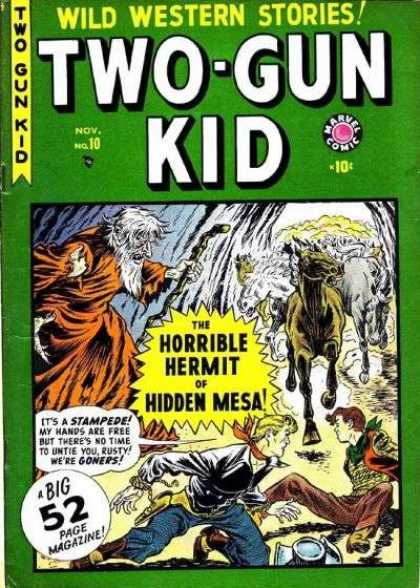 Two-Gun Kid 10 - Horse - Cave - Hermit - Red Bandana - Cowboys