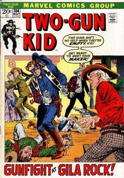 Two-Gun Kid 104 - Marvel Comics Group - Approved By The Comics Code Authority - 104 May - Cap - Gun - John Severin