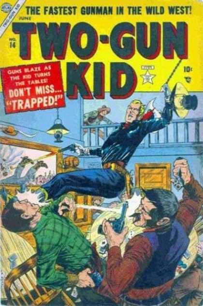 Two-Gun Kid 14 - Brawl - Saloon - Gun Fight - Cowboys - Bar