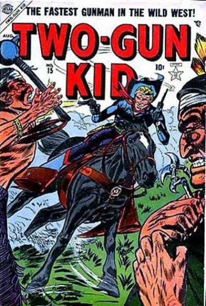 Two-Gun Kid 15 - The Fastest Gunman In The Wild West - Gun - Horse - Cowboy - Indians