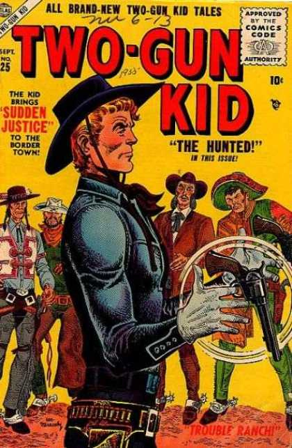 Two-Gun Kid 25 - All Brand-new - 10c - The Kid Brings - Sudden Justice - The Hunted