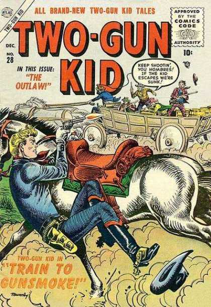 Two-Gun Kid 28 - Outlaw - Train To Gunsmoke - Horse - Gun Battle - Escape