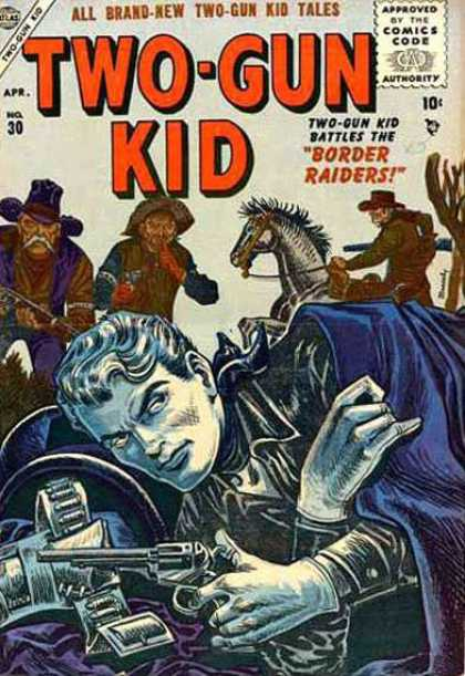 Two-Gun Kid 30 - Revolver - Horse - Belt - Old Man - Raiders