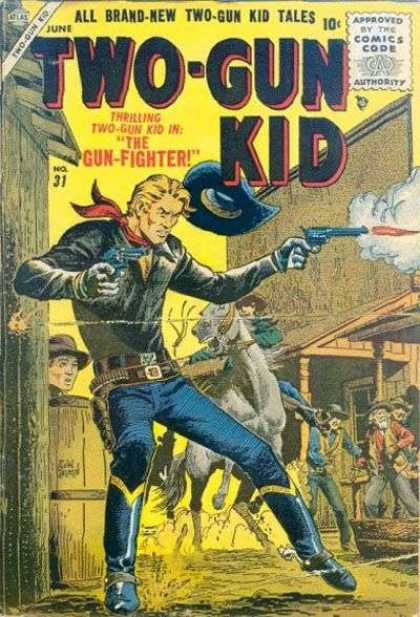 Two-Gun Kid 31 - Gun-fighter - Cowboys - Horse - Shooting - Western Town - John Severin