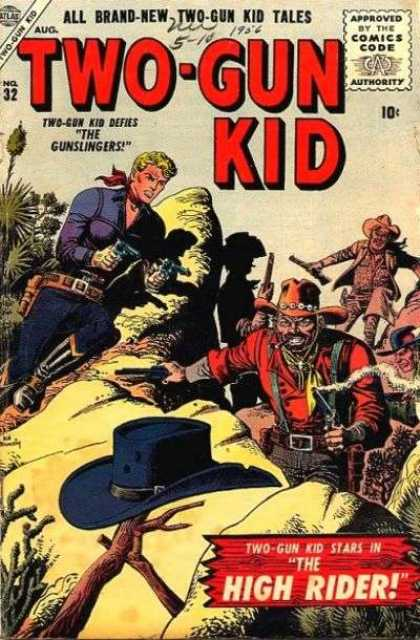 Two-Gun Kid 32 - The Gunslingers - Hat - Guns - The High Rider - Branches