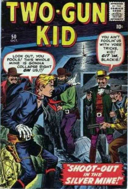 Two-Gun Kid 50 - Approved By The Comics Code - Cowboy - Shoot-out - Silver Mine - Hat