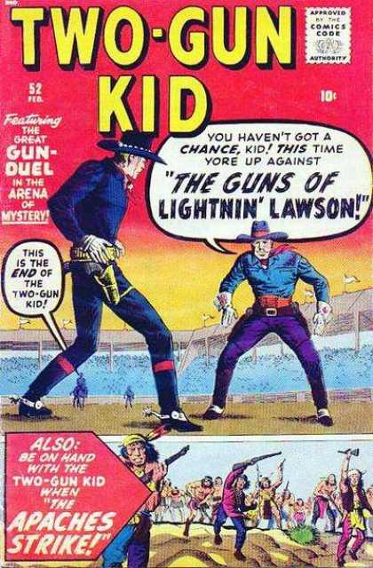 Two-Gun Kid 52 - Western - Cowboy - Holster - Gun Fight - Hat