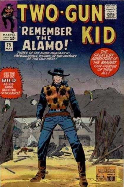 Two-Gun Kid 75 - Two-gun Kid - Remember The Alamo - Cowboy - Wild - Guns - Jack Kirby