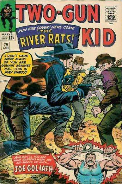 Two-Gun Kid 79 - The River Rats - Gang - Guns - Mask - Joe Goliath - Dick Ayers