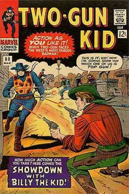 Two-Gun Kid 80 - Approved By The Comics Code - Marvel Comics Group - Man - Gun - Hat