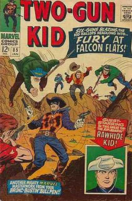 Two-Gun Kid 85 - Two-gun Kid - Fury At Falcon Flats - Cowboy - Marvel Comics Group - Guns