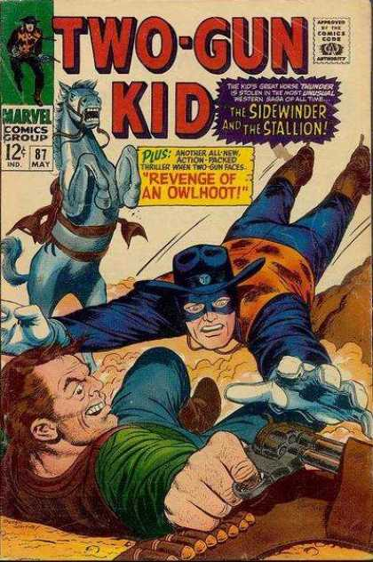 Two-Gun Kid 87 - The Kids Great Worse Thunder Is Stolen - The Sidewinder And The Stallion - Plus Another All-new Action-packed - Thriller When Two-gun Faces - Revenge Of An Owlhoot