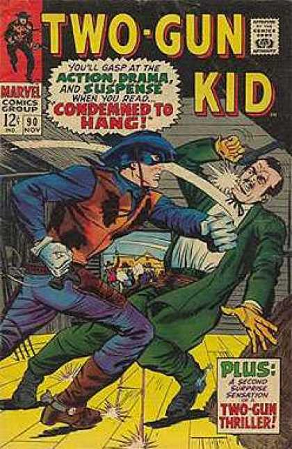 Two-Gun Kid 90 - Condemmed To Hang - Cowboy - Guns - Marvel Comics Group - Masked Cowboy