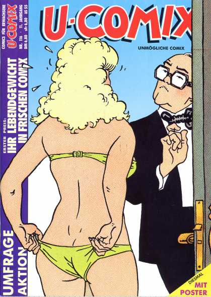 U-Comix 114 - Green Panty - Spectacles - Blond - Half Naked Girl - Bow Tie