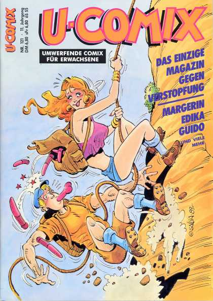 U-Comix 119 - Umwerfende Comix Fur Erwachsene - No 121 - Woman - Mountain Climbing - Man With Dildo In Mouth