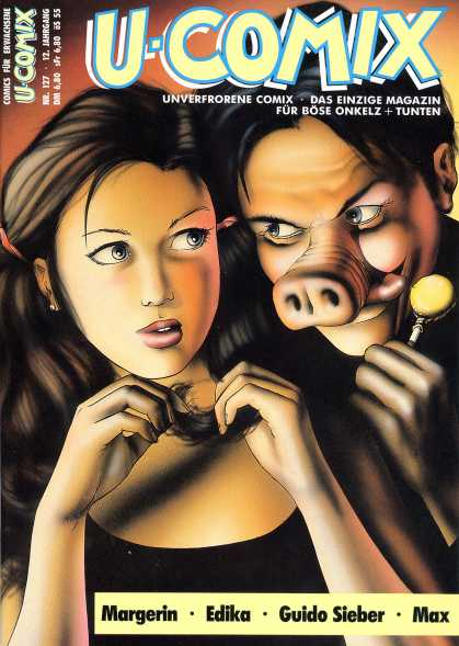 U-Comix 125 - Pig Nose - Candy - Scared - Girl - Evil