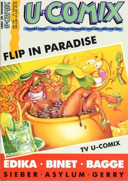 U-Comix 131 - Drink - Sun - Flip In Paradise - Woman - Hottub