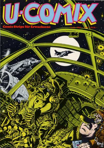 U-Comix 54 - Full Moon - Engine - Stars - Black - Fighter Plane