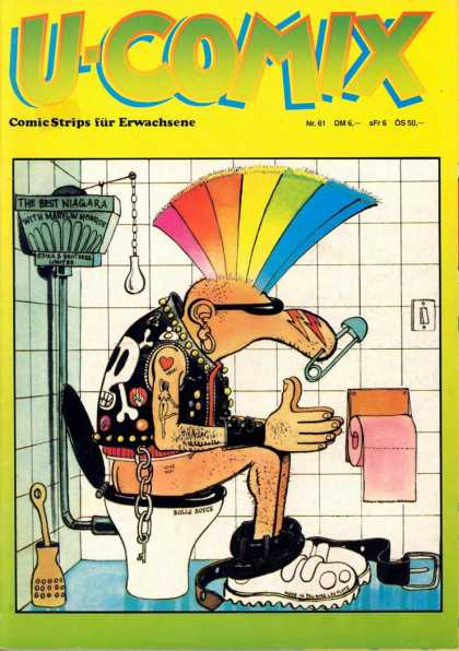 U-Comix 59 - Toilet - Rainbow Mohawk - Toilet Paper - Safety Pin - Tattoos