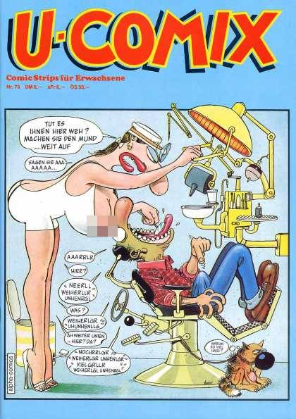 U-Comix 71 - Comic Strips For Erwachsene - High Jeels - White Hat - Dentist Chair - Brown Shoes