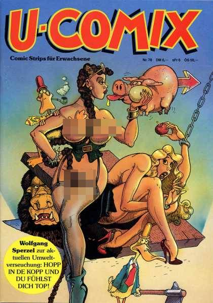 U-Comix 76 - Pig - Duck - Pipe - Stockings - Heels