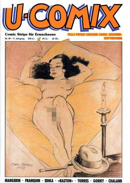 U-Comix 87 - Beauty - Lady Taking Rest - Naked Woman - Hat - Grosser Comic