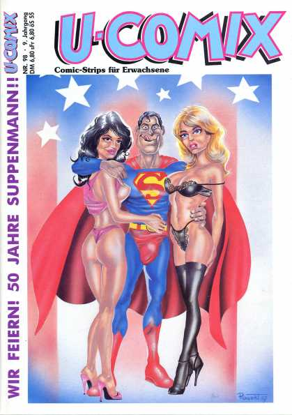 U-Comix 96 - Superman - Ladies - Bikinis - American Flag - German