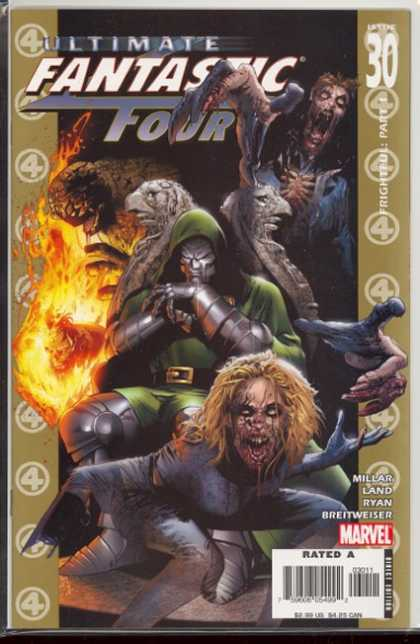 Ultimate Fantastic Four 30 - Frightened Part 1 - Marvel Comics - Mint Condition - Scary - Rated A Comic - Matt Ryan