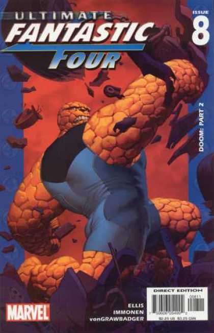 Ultimate Fantastic Four 8 - Doom Part 2 - Issue 8 - Marvel - The Thing - Smash - Stuart Immonen