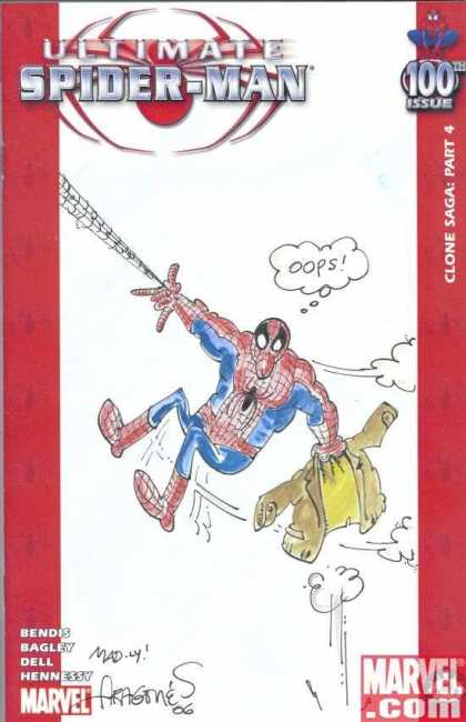 Ultimate Spider-Man 100 - Sergio Aragones - Ultimate - Spider-man - 100th - Marvel - Clone Saga
