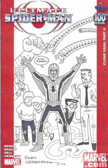 Ultimate Spider-Man 100 - Fred Hembeck - Robot Arms - Family - Monster Arm - Angry Man - Nerd