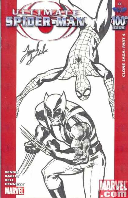 Ultimate Spider-Man 100 - Leonard Kirk - Sketch - 100 - Claws - Fight - Hangging