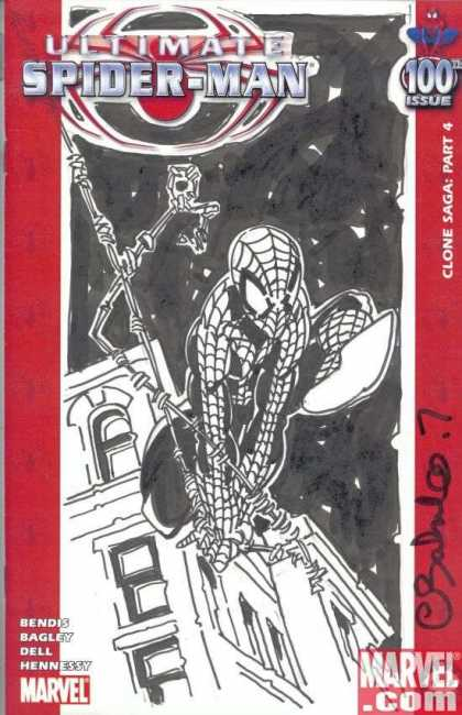 Ultimate Spider-Man 100 - Chris Bachalo - Bendis - Bagley - Dell - Hennessy - Building